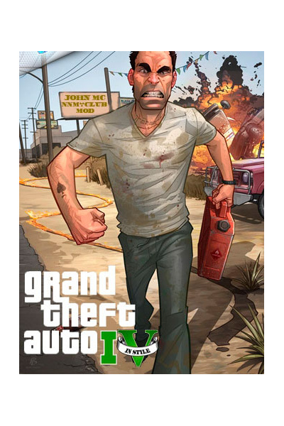 GTA 4 / Grand Theft Auto IV in style V [v.5] (2014/PC/Русский), RePack oт JohnMc